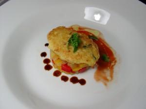 focaccina di patate con bobbia di verdure