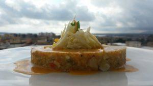 Quinoa,brunoise-di-ortaggi croccante-di-finocchi-e-salsa-vegetale