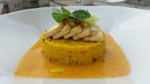 Couscous-alle-verdure tofu-arrosto-ed-essenza-vegetale