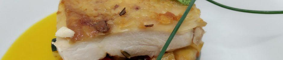 Pollo,bobbia e salsa all'arancia